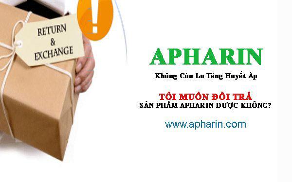 đổi trả sản phẩm apharin